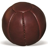Medicine Ball Leather - Soft Touch Dark Brown