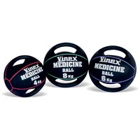 Vinex Rubber Medicine Ball - Double Handle