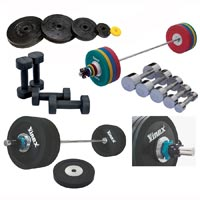 Weight Plates & Olympic Barbell Set